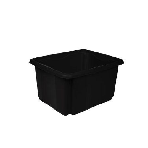 Keeeper opbergdoos met draai-/stapelsysteem 24L zwart 41x34,5cmx22cm