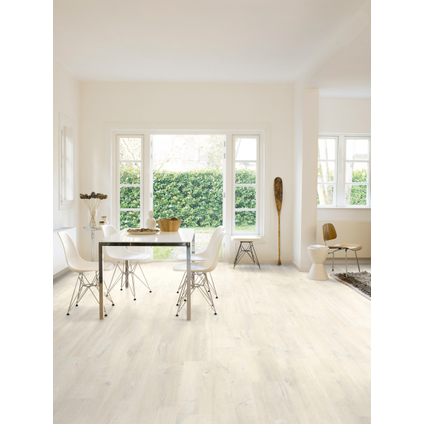 Sol stratifié Quick-Step Moderato Belmont chêne blanc 7mm 1,824m²