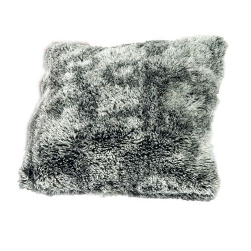 Coussin 'Fleece' gris 40 x 40 cm