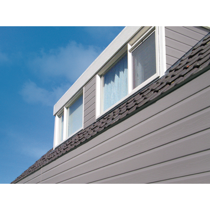 Revêtement de façade HDM 'Outdoor' PVC gris clair 9 mm