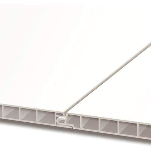 Revêtement de carport HDM 'Outdoor' PVC titane blanc 10 mm