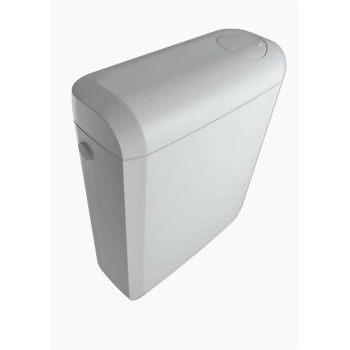 Réservoir bloc duo AquaVive Vologne dual flush 2-en-1 blanc 3/6L