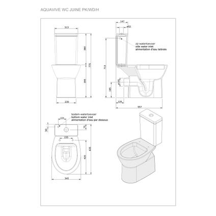 Pack wc AquaVive 'Juine PK' 3 / 6 L