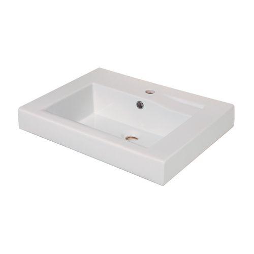AquaVive wastafel 'Orbieu' wit 55 cm