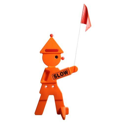 Clown de sécurité Swing King orange 95 cm