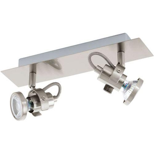 Eglo wandlamp 'Tukon' nikkel 2 x 3 W