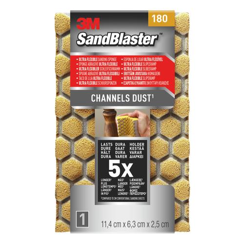 3M schuursponzen 'SandBlaster Ultra Flexible' P180 11,4 cm