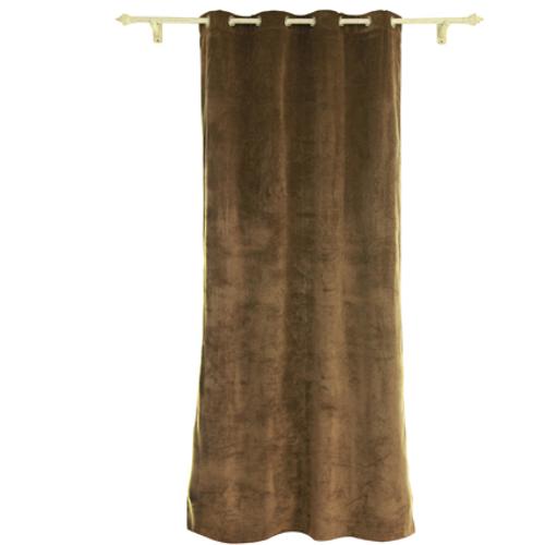 Rideau Decomode 'Rumba' occultant taupe 140 x 280 cm