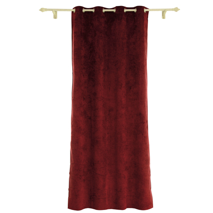 Rideau Decommode 'Rumba' occultant rouge 140 x 280 cm