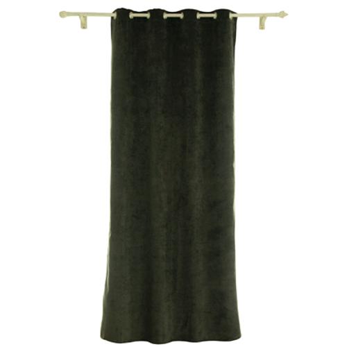 Rideau Decomode 'Rumba' occultant antracite 140 x 280 cm