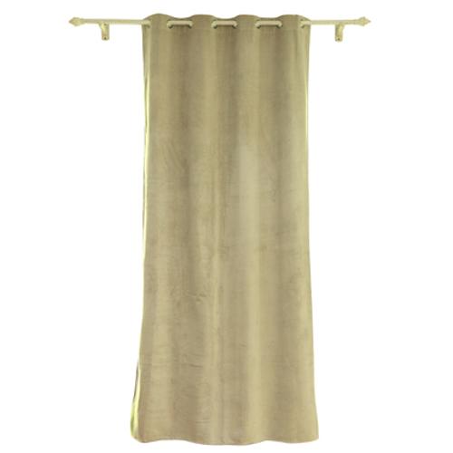 Rideau Decomode 'Rumba' occultant ivoire 140 x 280 cm