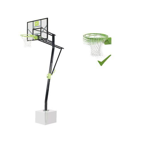 Panneau de basket EXIT Galaxy pour montage au sol + anneau dunk vert-noir