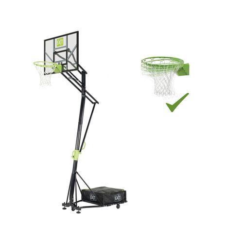 Planche de basket mobile EXIT Galaxy sur roulettes + anneau dunk vert-noir