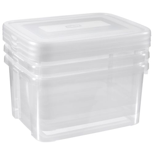 Allibert opbergboxen Handy Box 25L transparant 3 stuks