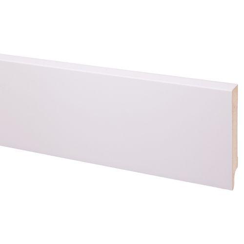 Decoratieve plint MDF gegrond 120x18mm Cubic wit 244cm