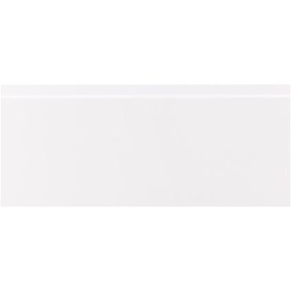 CanDo decoratieve kabelgootplint MDF folie 80x19mm Cubic wit287240cm
