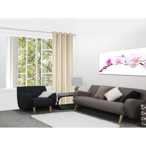 Decomode gordijn Rosalie lichtdoorlatend T'dove beige 140x280cm