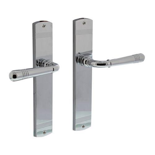 Intersteel deurklink 1705 emily op langschild blind chroom