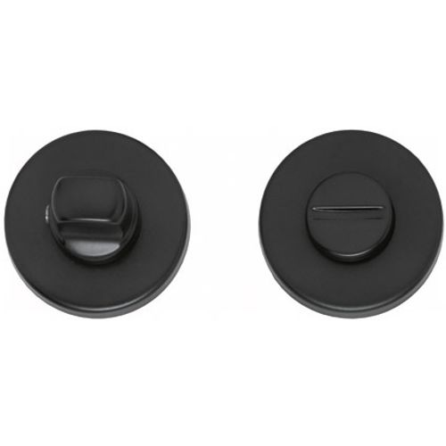Intersteel wc-sluiting 8mm rond verdekt kunststof mat zwart