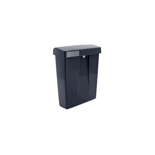 Intersteel postkast summus kunststof met slot (2 sleutels) zwart ral 9005
