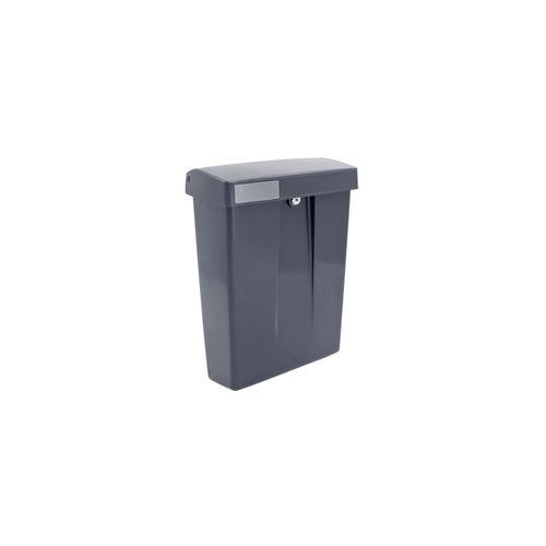 Intersteel postkast summus kunststof met slot (2 sleutels) grijs ral 7016