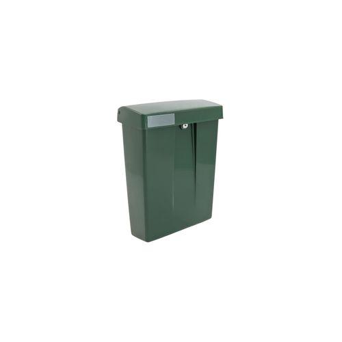 Intersteel postkast summus kunststof met slot (2 sleutels) groen ral 6009