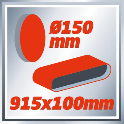 Einhell schijf- en bandschuurmachine TCUS400 375W