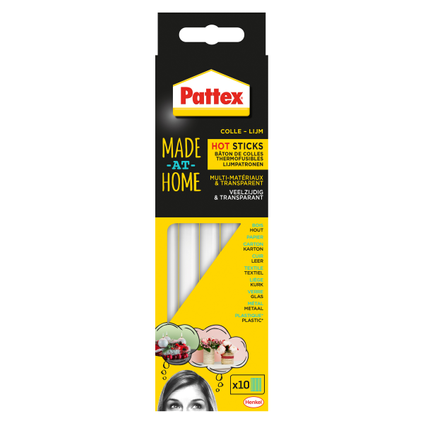 Cartouches de colle Pattex 'Made At Home Hot Sticks' 10 pièces