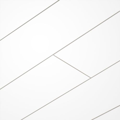 Lambris HDM 'Avanti Large' MDF blanc brillant uni 10mm