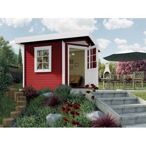 Weka tuinhuis 213 GR2 rood 298x298cm