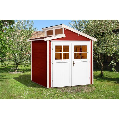 Weka tuinhuis 226 GR1 rood 205x209cm
