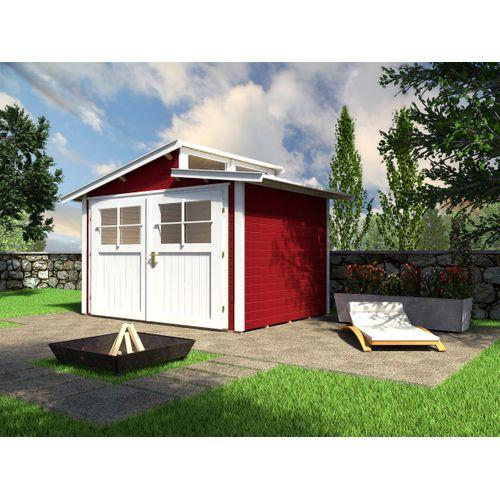 Weka tuinhuis 226 GR2 rood 235x239cm