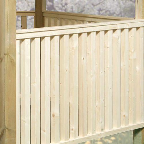 Weka balustrade onbehandeld voor Prieel 656 88x190cm
