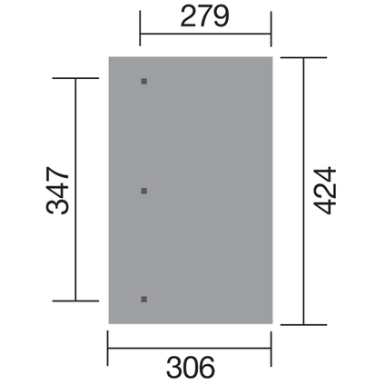 Weka carport aanbouw 671 GR.3 eiken 347x279cm