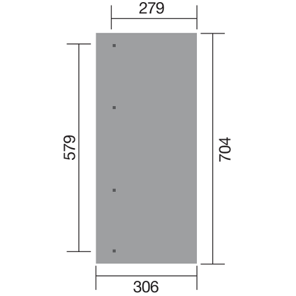 Weka carport aanbouw 671 GR.5 eiken 579x279cm