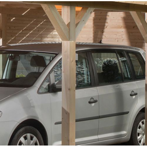 Weka achterwand carports hout 28mm