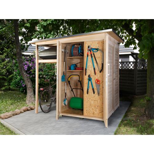 Armoire de jardin + auvent Weka 'Garten Q Multi' brun 224 x 217 cm
