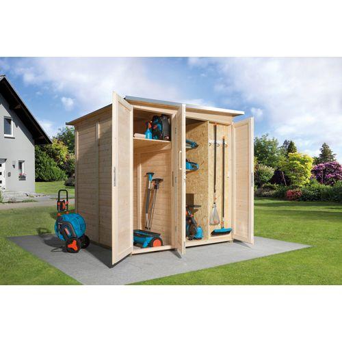 Armoire modulaire Garten Q Savebike pour abri de jardin Weka chêne clair