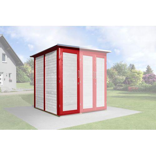 Armoire modulaire Garten Q Savebike pour abri de jardin Weka rouge suédois