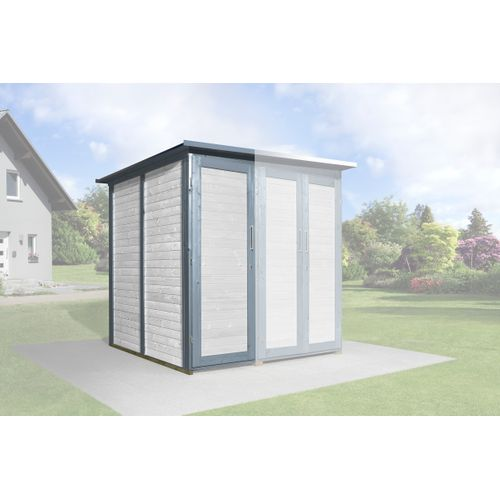 Armoire modulaire Garten Q Savebike pour abri de jardin Weka gris