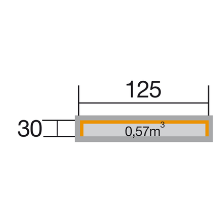 Weka haardhoutopslag 663A GR.1 30x125cm