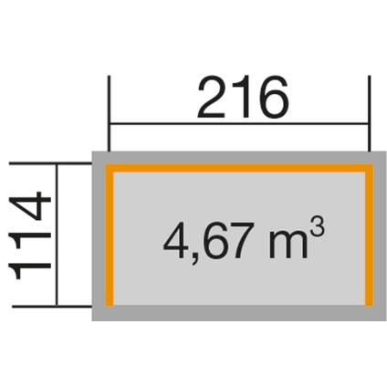 Weka haardhoutopslag 663B GR.1 onbehandeld 114x214cm