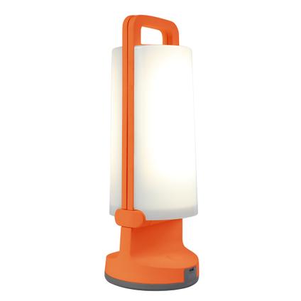 Lutec tafellamp solar Dragonfly oranje