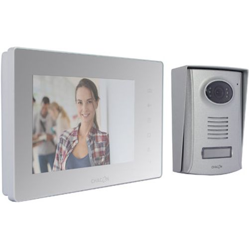 "Chacon videofoon 2 draden met 7"" spiegel scherm touch buttons"