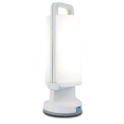 Lampe de table solaire Lutec 'Dragonfly' blanc 1,2W