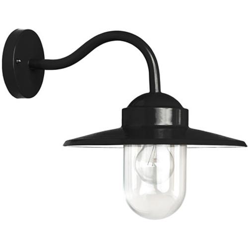 KS Verlichting wandlamp Dolce retro zwart