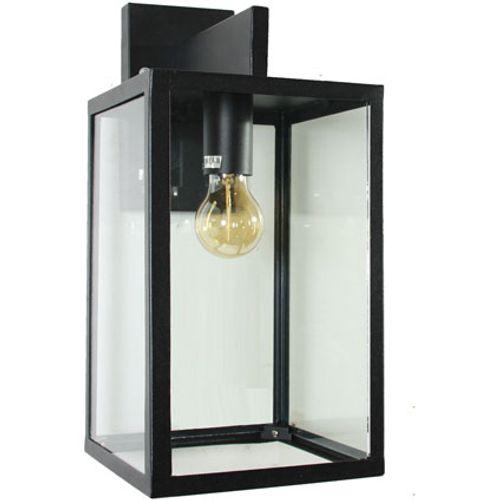 KS Verlichting hampton wandlamp zwart rvs