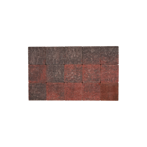 Pave tambouriné in-line rouge noir 15x15x6
