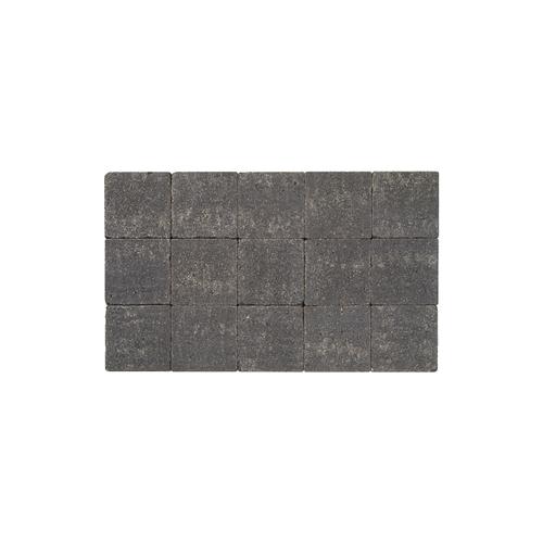 Coeck kassei zwart in-line trommeling 15x15x6cm