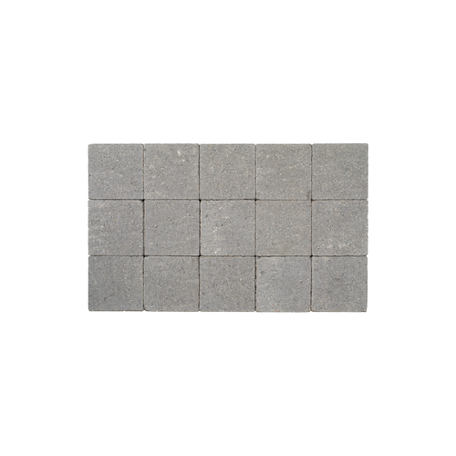 Pave tambouriné in-line gris souris 15x15x6